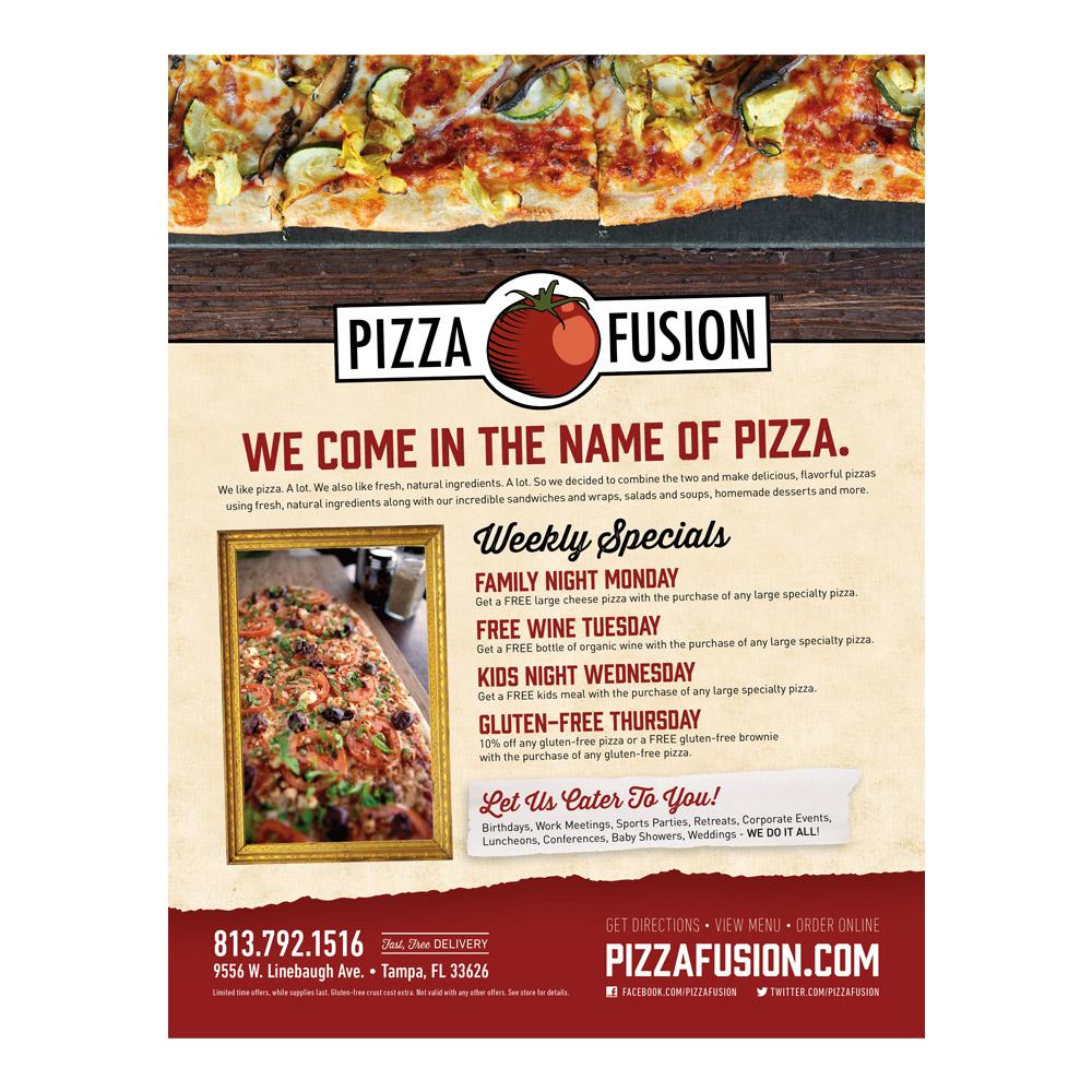 Pizza Fusion Print Ad