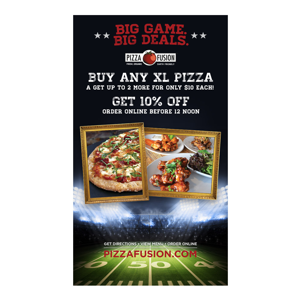 Pizza Fusion Big Game Eblast