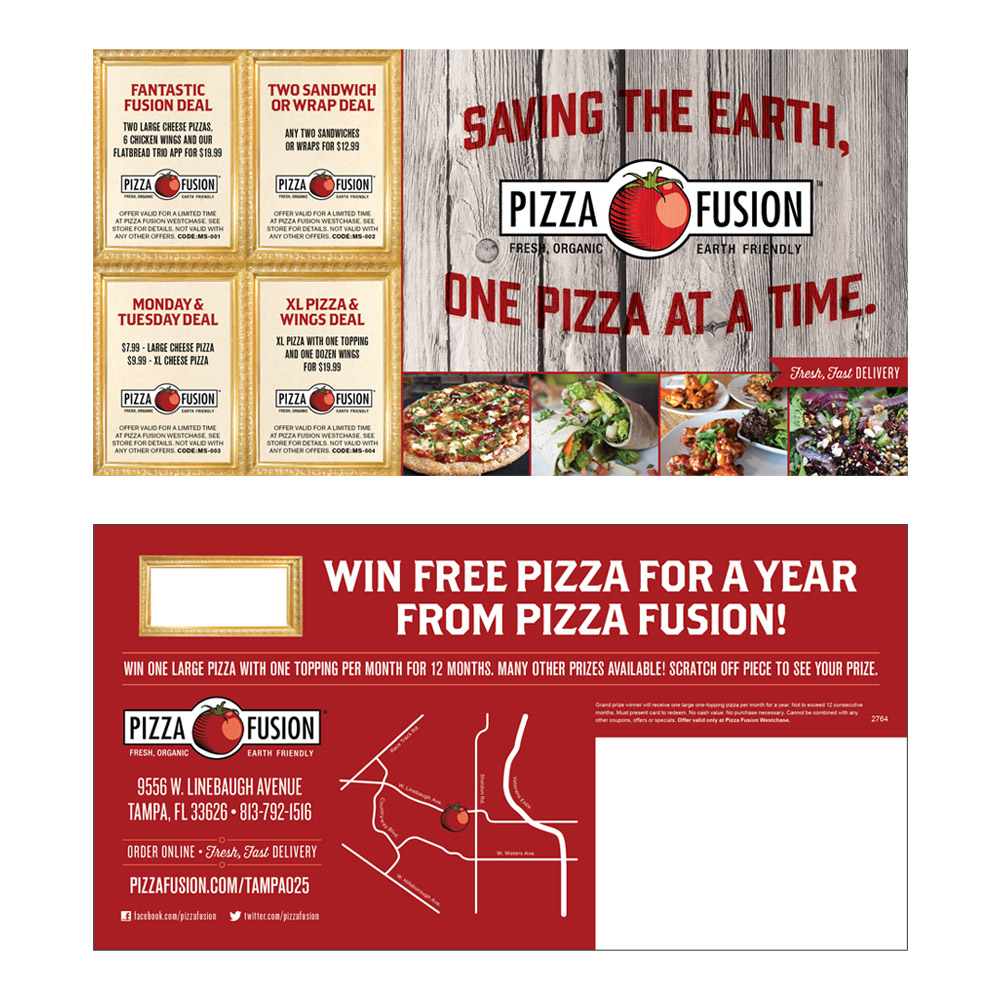 Pizza Fusion Coupon Mailer