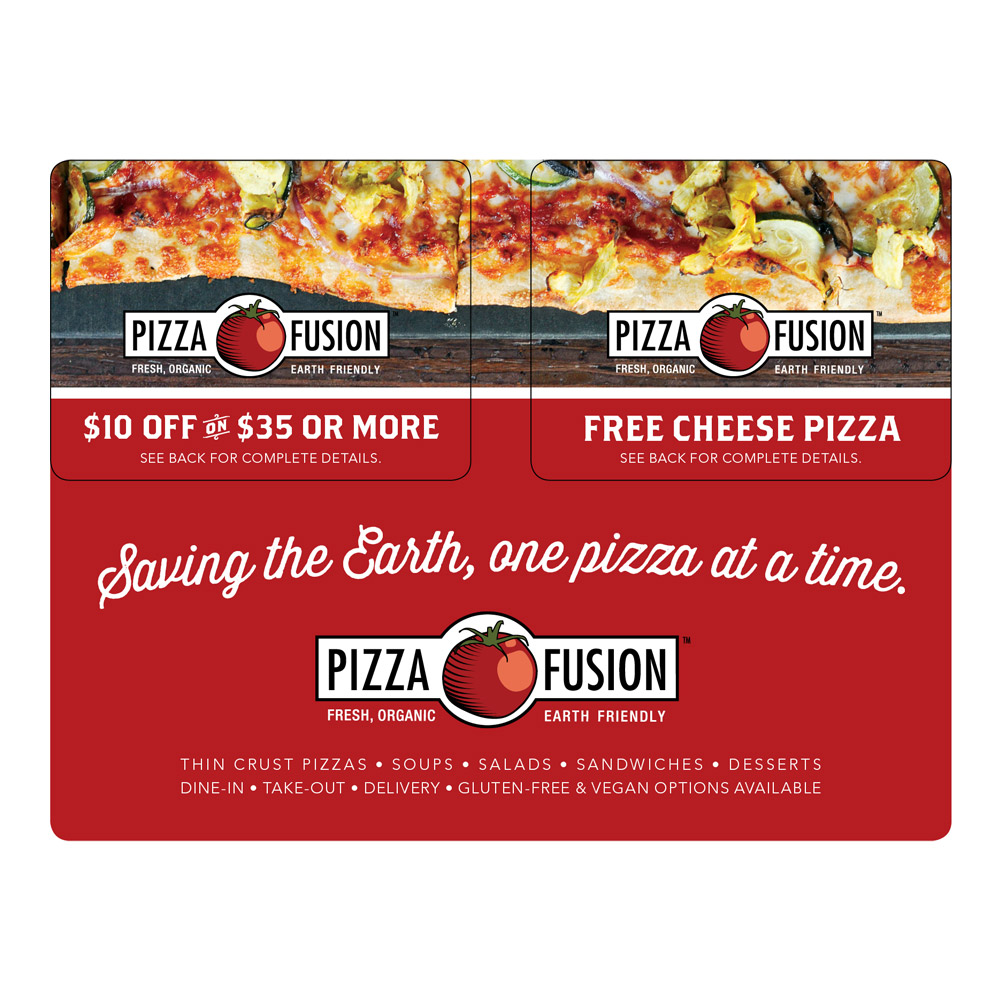 Pizza Fusion Card Mailer