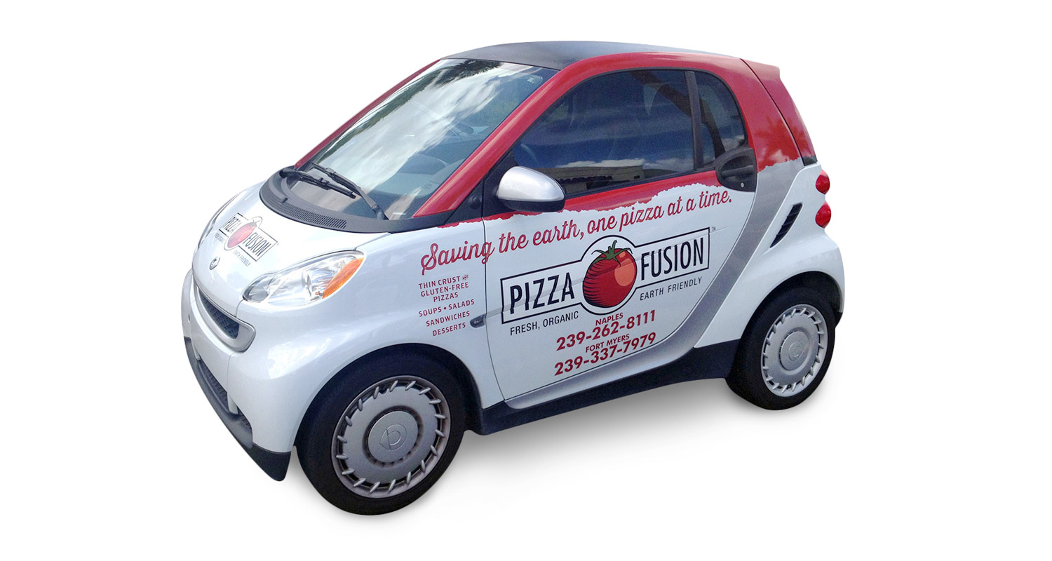 Pizza Fusion Vehicle Wrap