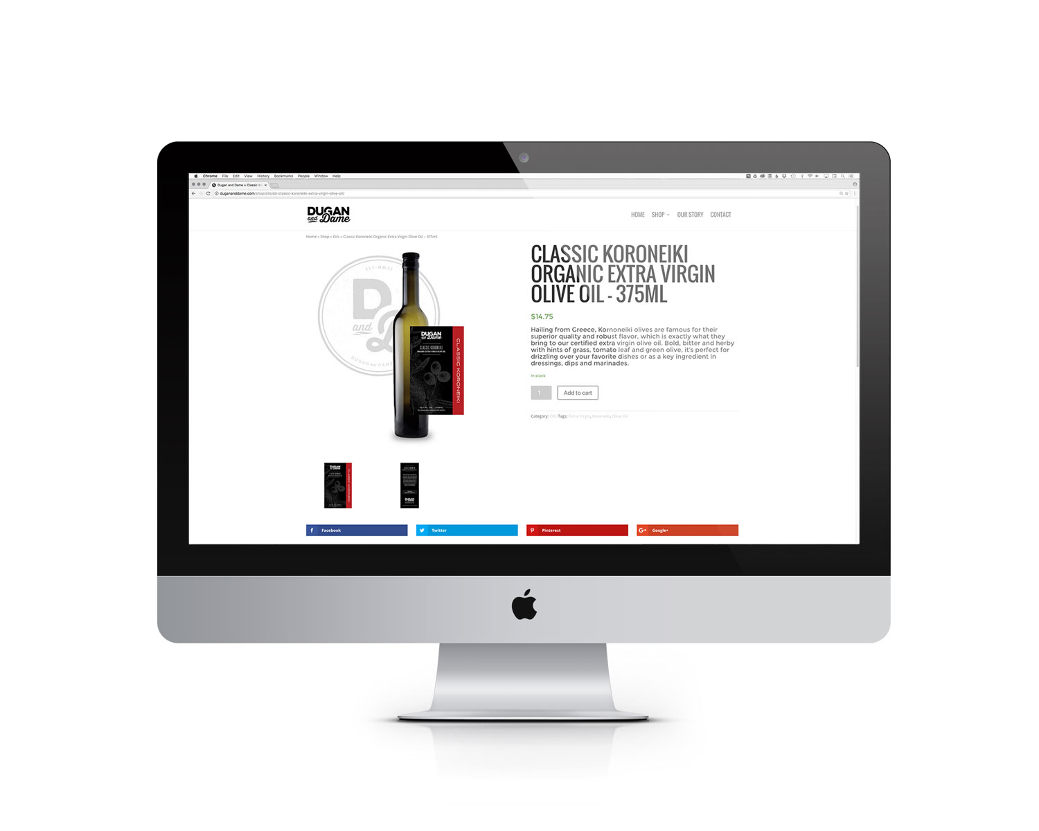 Dugan and Dame Website Product Page