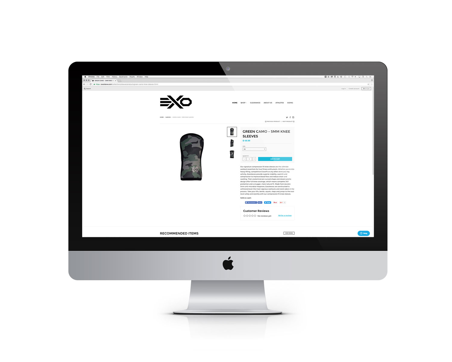 Exo Website Product Page