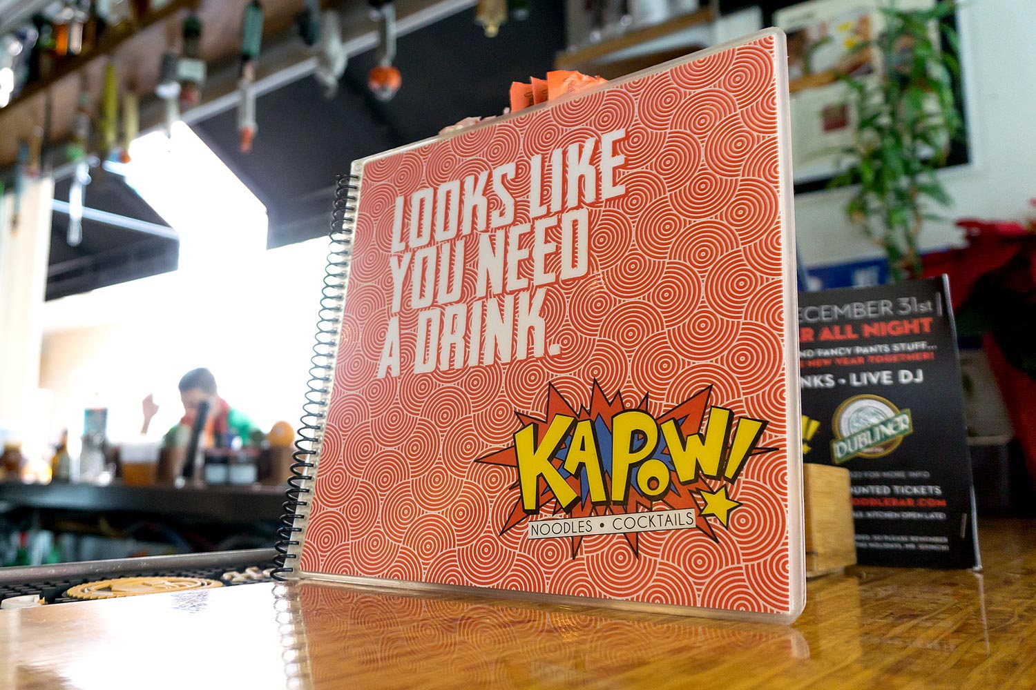 Kapow! Drink Menu