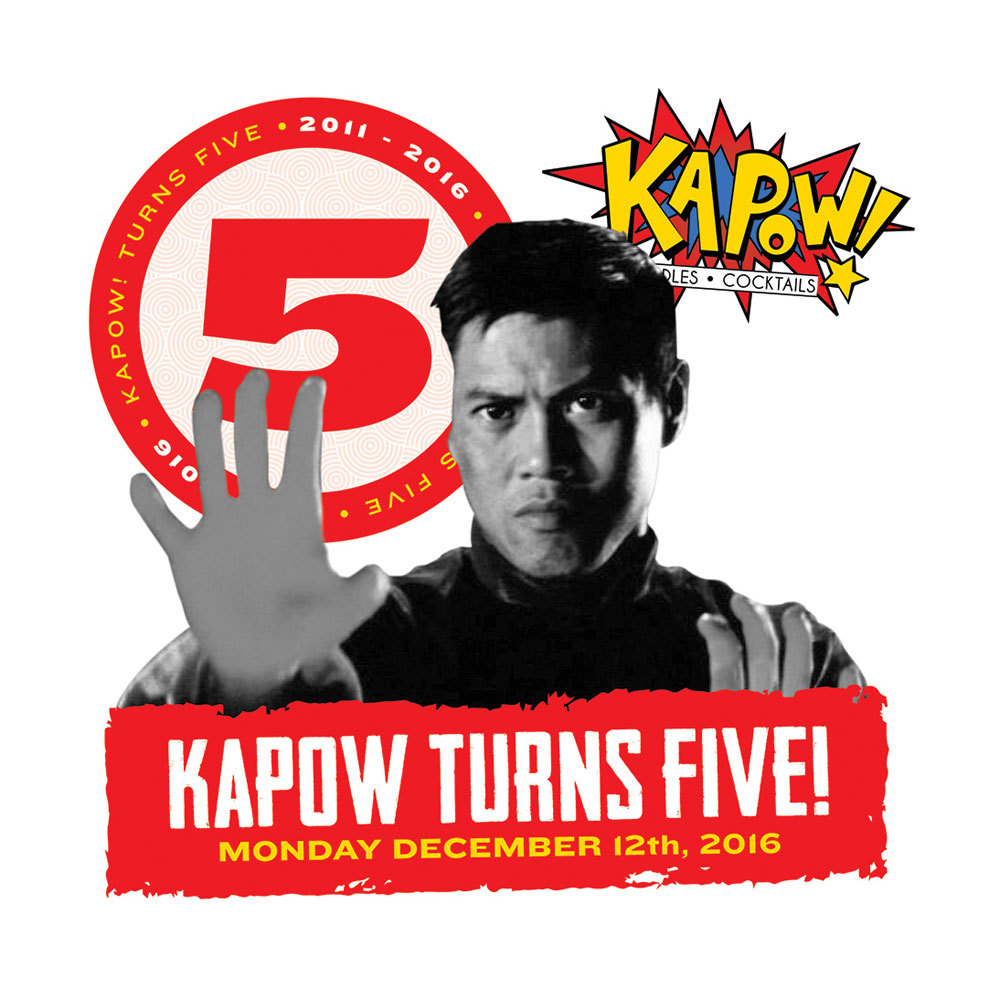 Kapow! 5 Year Graphic