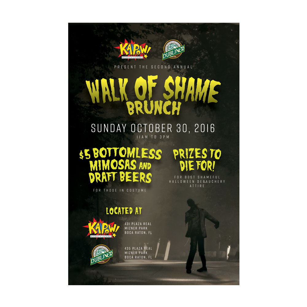 Kapow! Walk Of Shame Poster