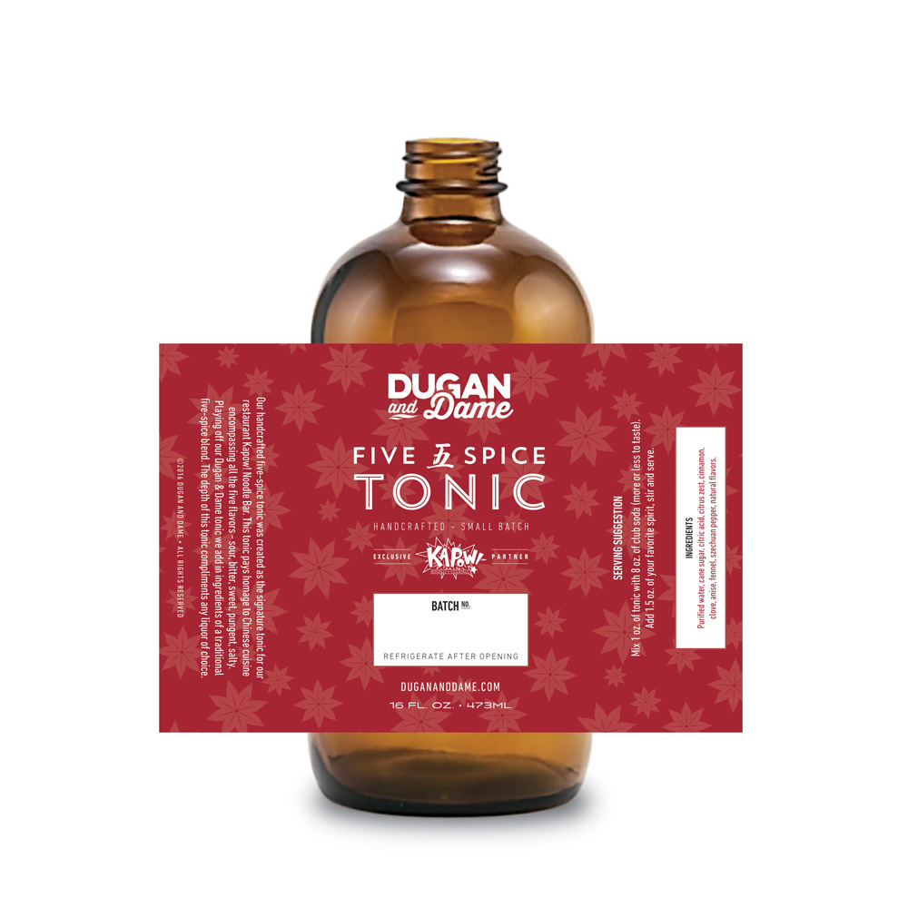 Dugan and Dame Tonic Bottle
