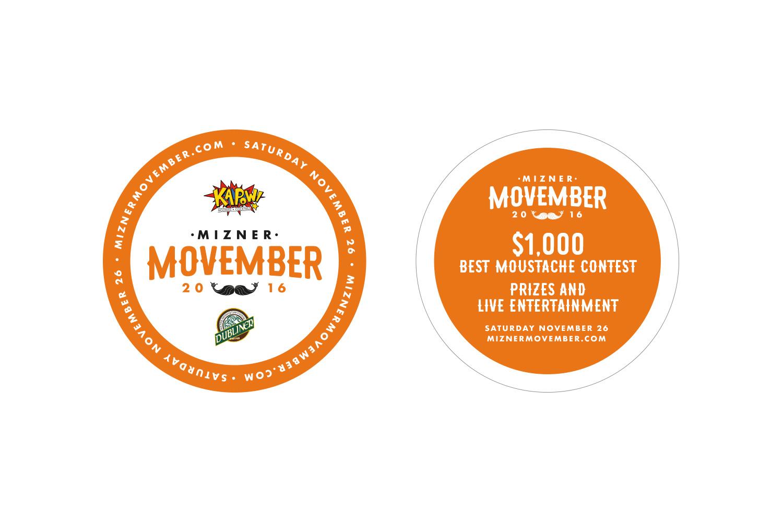 Mizner Movember Coasters