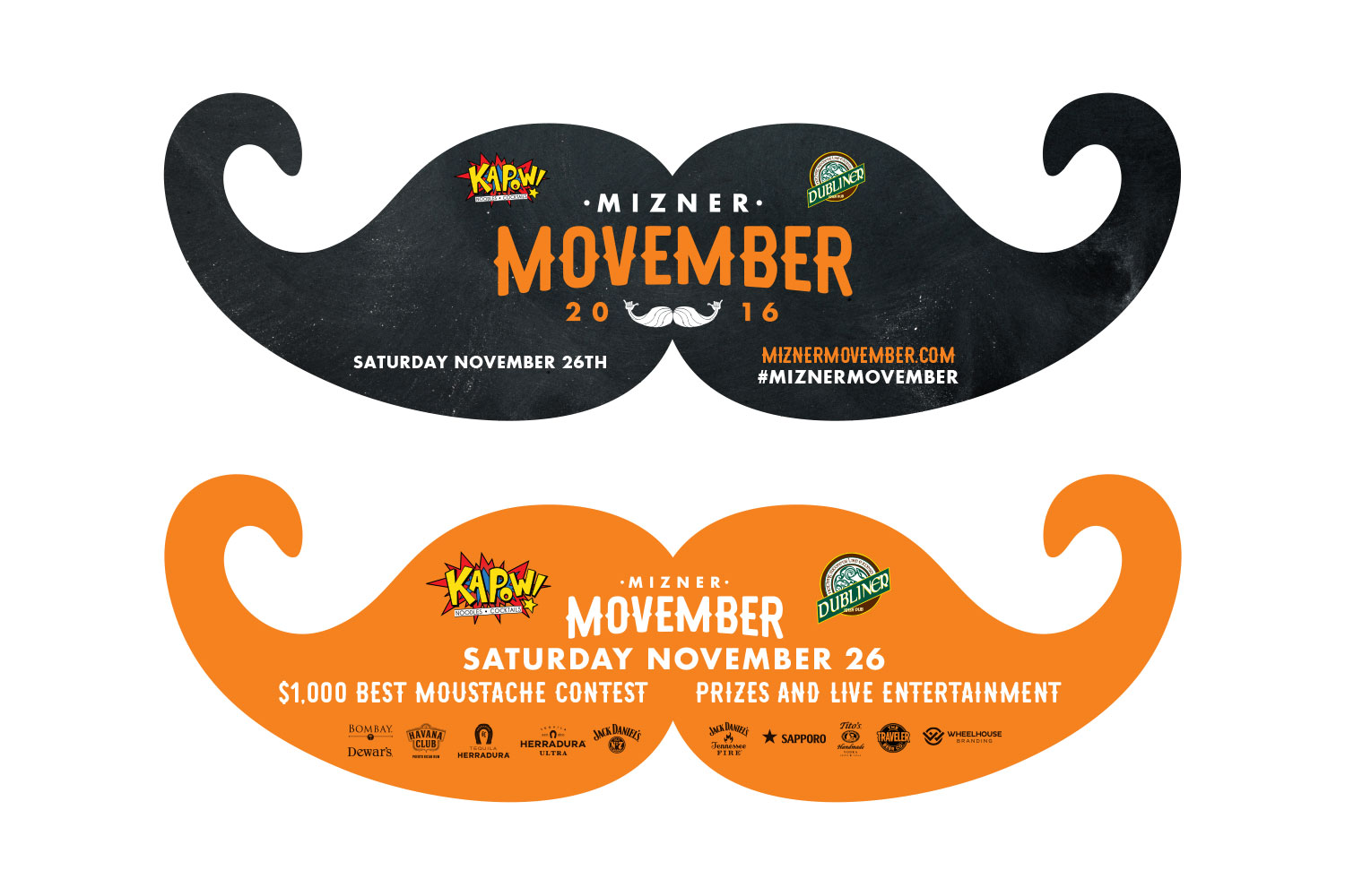 Mizner Movember Die-Cut Flyer