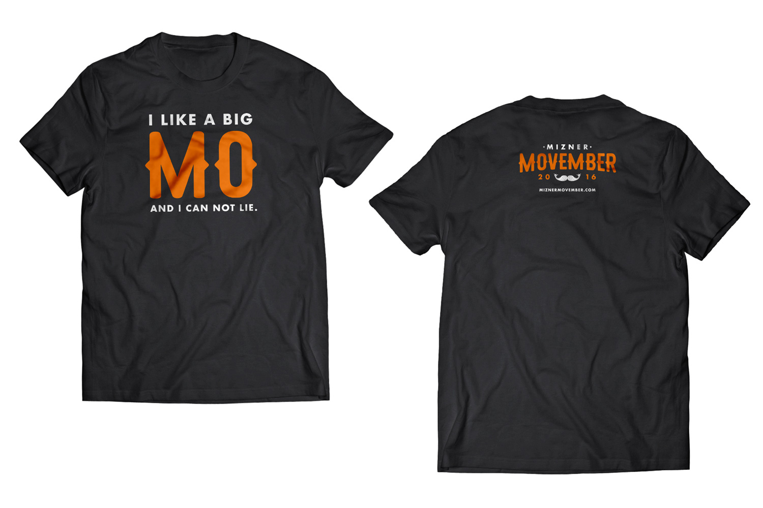 Mizner Movember I like A Big Mo Shirt